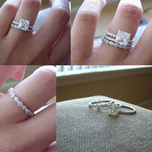 gabriel co vintage style engagement ring - Engagement Ring And Wedding Ring