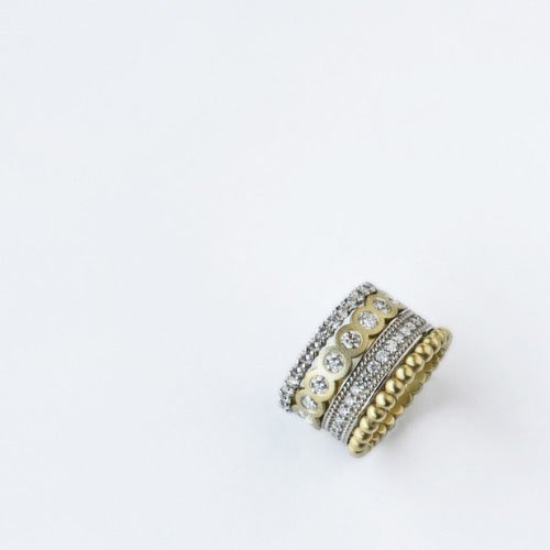 stacked rings - Stacked Wedding Rings
