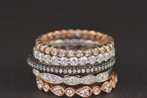 rings gorgeous wedding stacked