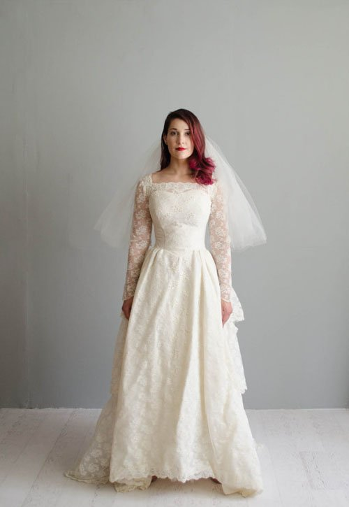12 Vintage Wedding Dresses We Love