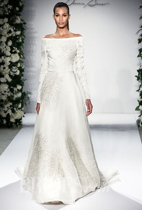 10 amazing dresses from the dennis basso bridal collection for Lace wedding dresses with sleeves kleinfelds