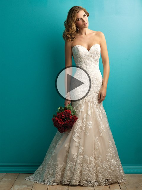 How much allure bridals wedding dresses cost for How much is a custom wedding dress