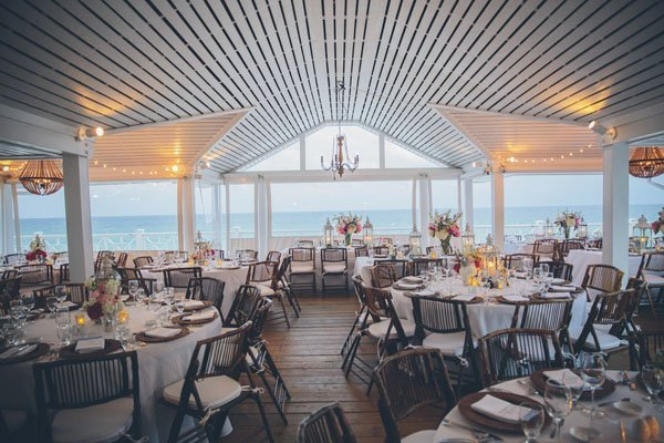 beach reception tables
