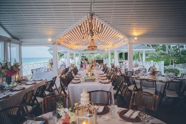 beach reception tables