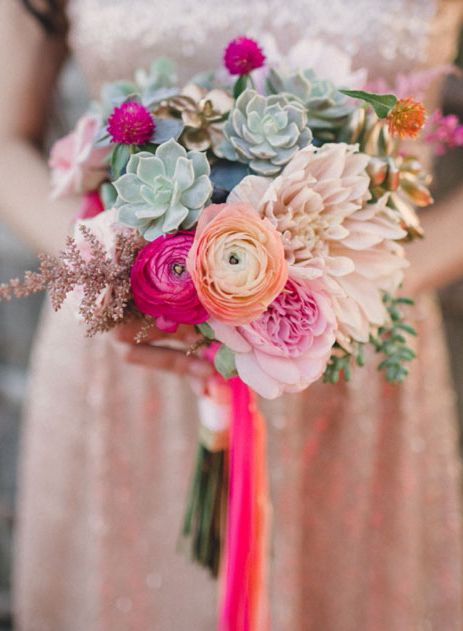 Pinks and Succulents