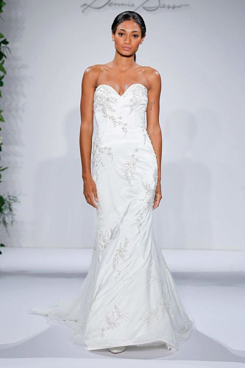 Dennis Basso Sweetheart A-Line Gown in Embroidery