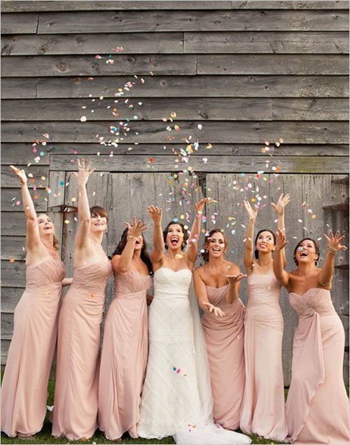 Confetti Toss with Your Bridesmaids