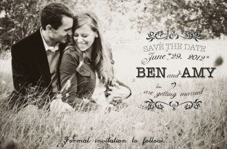 funny save the date