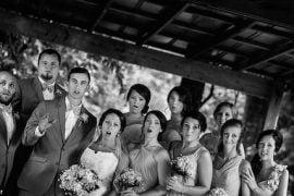 wedding party photo funny