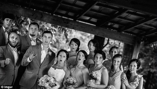 wedding party photo funny