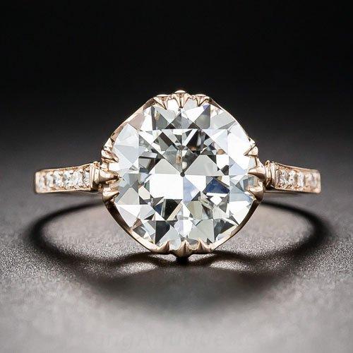 2.85 carat diamond and rose gold