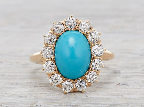 Victorian turquoise and diamond