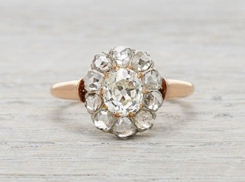 1.40 carat Edwardian diamond cluster