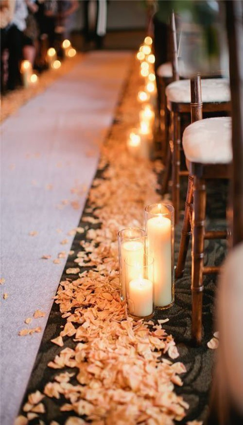 Simple Candles and Petals Always Work