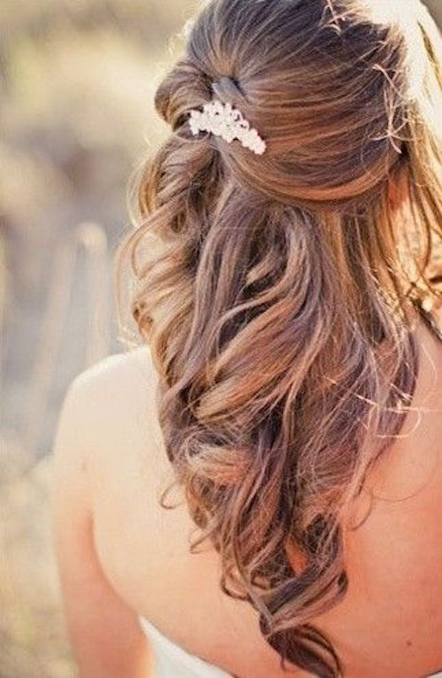 13 Half Up Down Wedding Hairstyles To Try Now