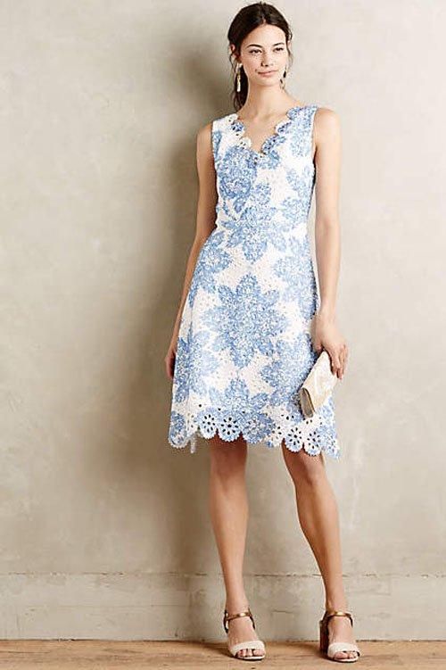 Anthropologie's 'Starflower' scalloped dress, $198
