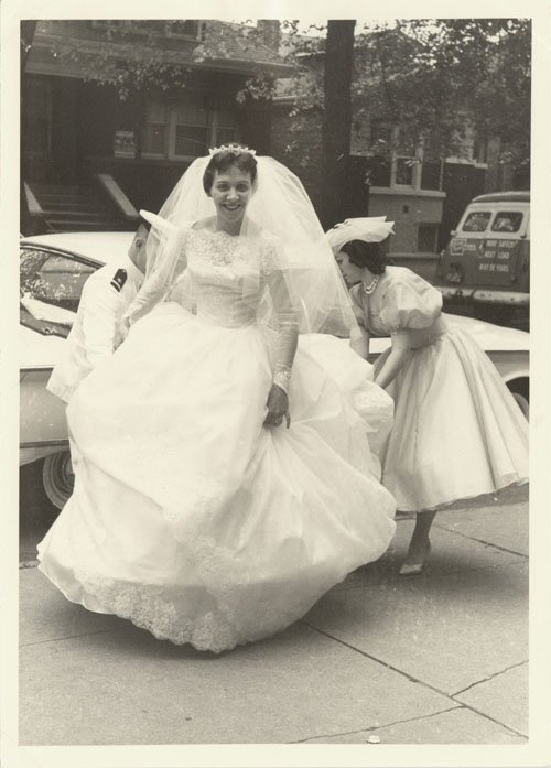 V-Neck Wedding Dresses 1960s