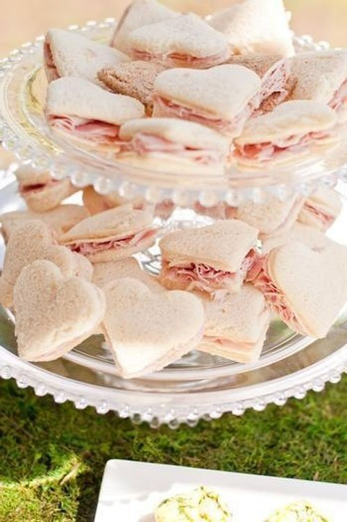 Heart-Shaped Tea Sandwiches