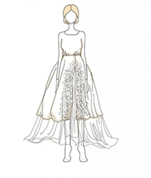 6/29/2014 - M. Johannes Huebl - Designed by: Carolina Herrera. Illustrations by Pauline Dujancourt via  Vashi