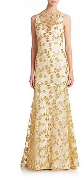 Theia Embroidered Crepe Gown • Theia • $246.76