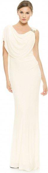 Badgley Mischka Collection Gown with Beaded Shoulder • Badgley Mischka • $695