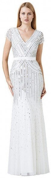 Adrianna Papell Cap-Sleeve Beaded Gown • Adrianna Papell • $290