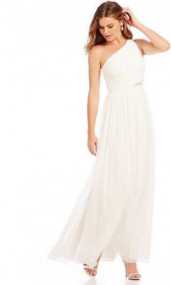 Aidan Aidan Mattox One-Shoulder Lace Gown • Aidan Mattox • $245