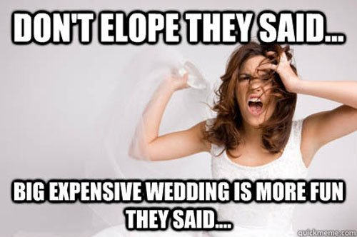 Image result for wedding memes