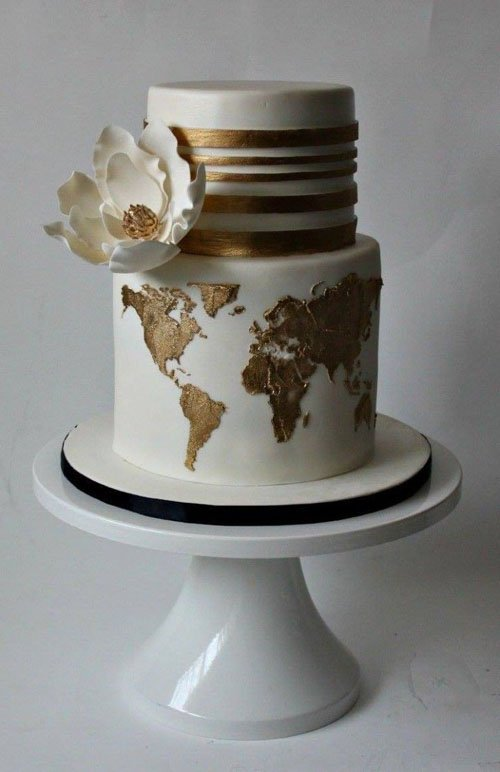 Around the World Wedding Cake