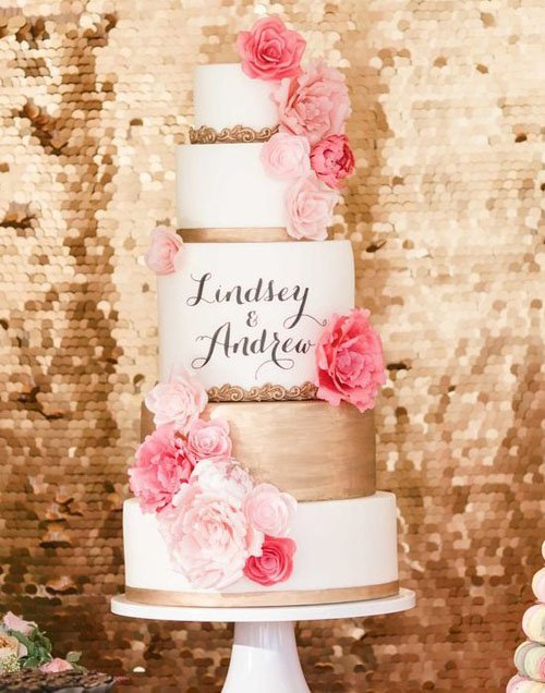 14 amazingly unique wedding cakes calligraphy wedding cake junglespirit Gallery