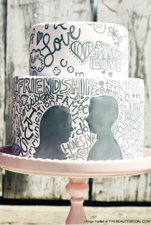 Graffiti Wedding Cake
