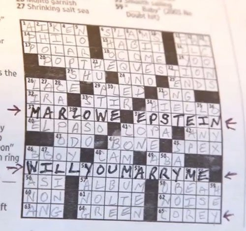 In a Crossword Puzzle