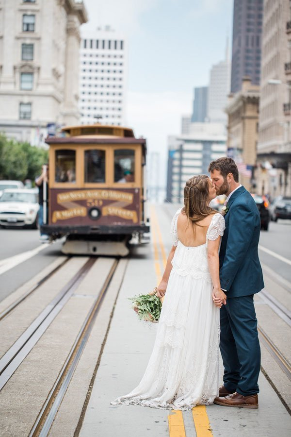 A london meets san francisco city hall wedding woman for Wedding dresses in san francisco