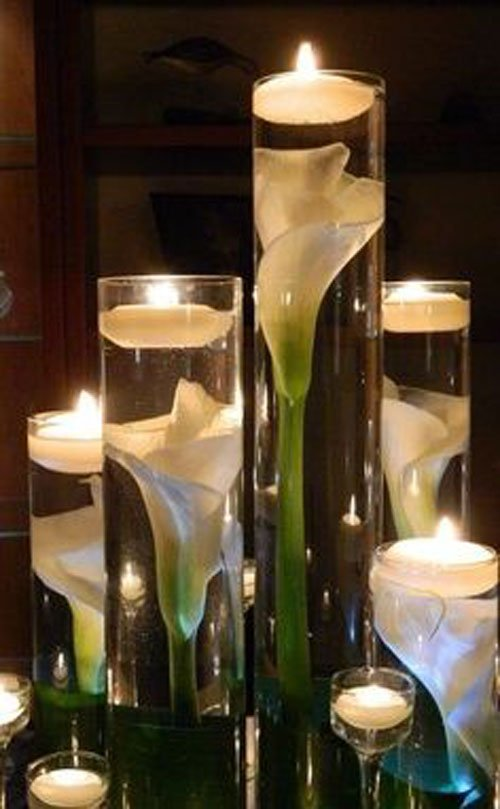 20 budget friendly wedding centerpieces - Vase plat centre de table ...