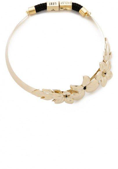 Holst + Lee Golden Hibiscus Collar Necklace • $215