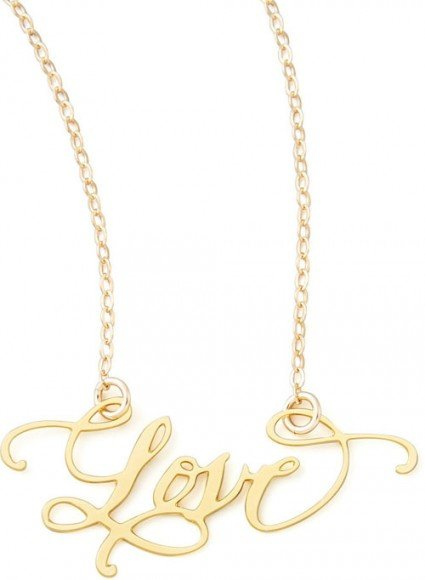 Brevity Love Hand-Calligraphed Necklace • $95