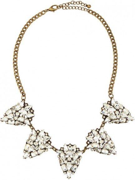Jules Smith Rhinestone Teardrop Necklace • $77