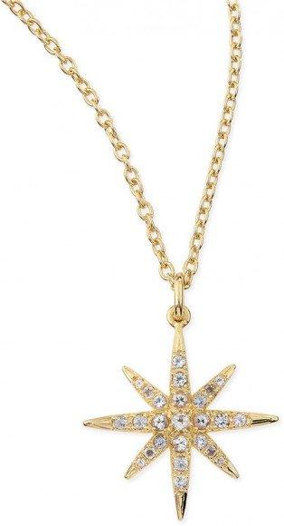Elizabeth and James Compass White Topaz Star Pendant Necklace • $150