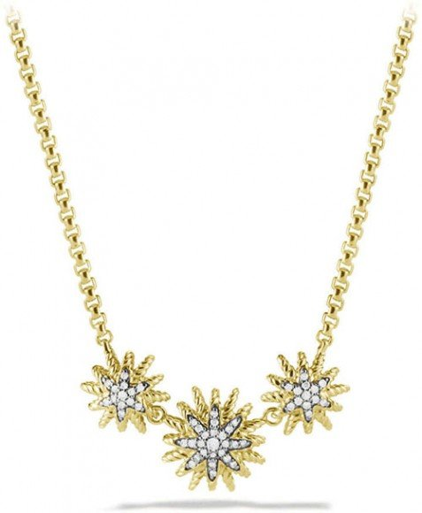 David Yurman Starburst Necklace with Diamonds in Gold • $2,900