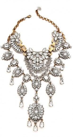 Laura Cantu Vintage Extra Large Rhinestone Necklace • $300