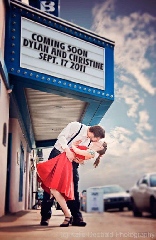 Marquee Save the Date Photo