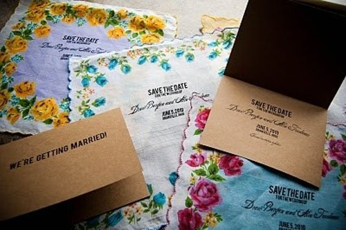 Handkerchief Save the Date