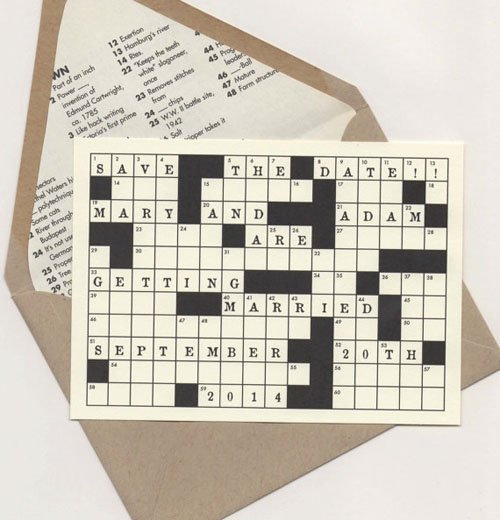 Crossword Save the Date