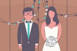 recycled wedding