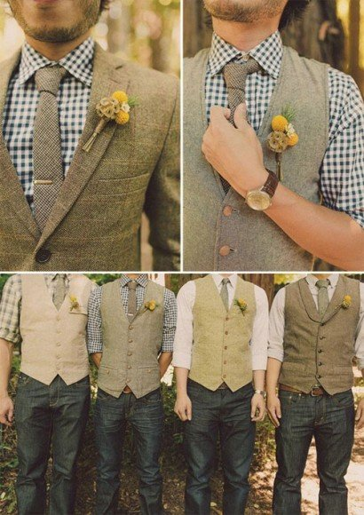 I LOVE this groomsmen look for a fall wedding