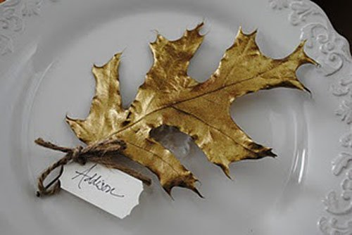 You can also spray paint leaves for the same effect.