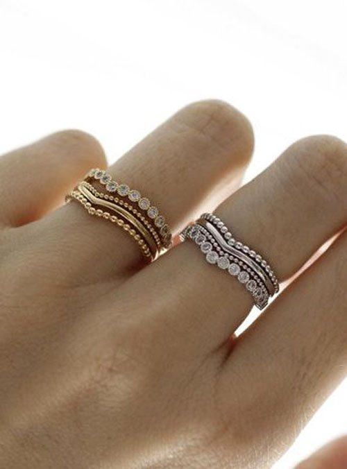 10 Stacked Wedding Rings Worth Obsessing Over. Colorless Diamond Engagement Rings. Delicate Rings. Wiki Diamond. Red Beads For Jewelry Making. Family Gemstone. Cord Bracelet. Three Diamond Engagement Rings. Adjustable Bracelet