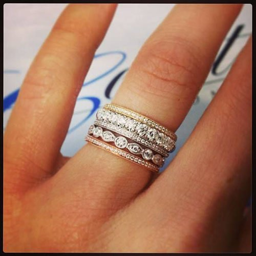 best bands rings stacked and engagement stack ring wedding