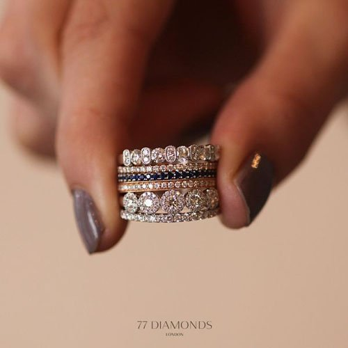 10 stacked wedding rings worth obsessing