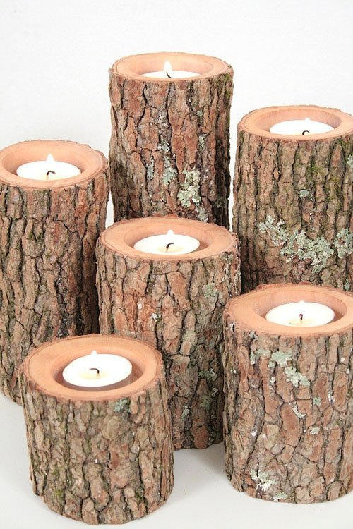 tree branch candles
